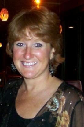 Brenda at Wedding Reception